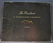 1935 Studebaker President Catalog Sales Brochure Nice Original 35