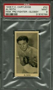 1938 F.C. CARTLEDGE GLOSSY #32 AL ROTH PSA 9 MINT POP 5 FAMOUS PRIZE FIGHTERS