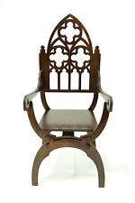 "Dantesca Gothic chair for Dolls 1/4 16-18"" TONNER BJD Italian Renaissance wood"