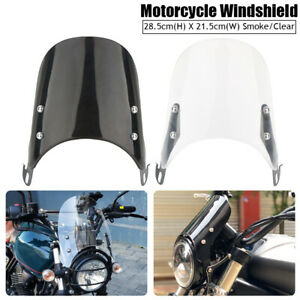 "Motorcycle Windshield Windscreen For 5""-7""Headlight Yamaha Honda Kawasaki Suzuki"