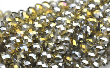 36 Starlight AB Faceted Crystal Rondelle Beads 8MM