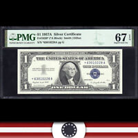 1957-A $1 SILVER CERTIFICATE *STAR REPLACEMENT* PMG 67 EPQ  Fr 1620* *63010228A