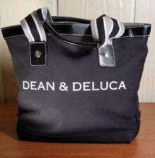 Dean & Deluca Women's Small Signature Black Canvas Cotton Tote Bag