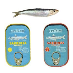 Tinned Sardines - The Fishmonger - Tomato Sauce / Sunflower Oil - BULK - 125g