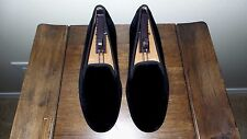"RARE! Mens $495 Stubbs & Wootton Black Velvet ""INSECURE"" Loafers Slippers Shoes"