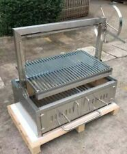 Stainless Steel Outdoor Charcoal BBQ Parrilla Santa Maria / Argentine Grill Spit