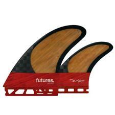 Futures Fins Machado Twin Fin +1 Set Blackstix 3.0 In Red Surfboard Fins