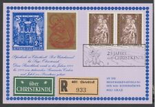 1974: ,Reco-Christkindl Brief mit Leitzettel + Vignette v. 24.12.1974 (s.Foto)