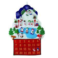 Snowman Village Fabric Christmas Advent Calendar Countdown to Xmas New