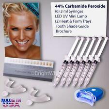 Teeth Whitening Kit 6 X Tubes 2 Trays (1) White LED Light Best 44% CP Gel USA