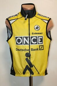 Castelli Cycling Windstopper Vest Jersey Gilet Sleeveless Size M Giant Yellow