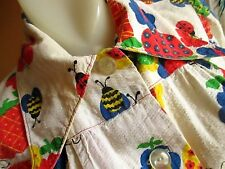 MEDIUM True Vtg 70s BUMBLE BEE LADYBUG PRINT RELIC GROOVY GARDEN JACKET Womens