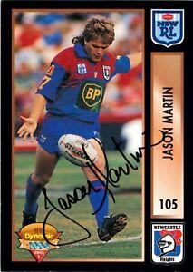 ✺Signed✺ 1994 NEWCASTLE KNIGHTS NRL Card JASON MARTIN