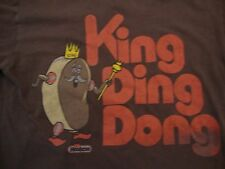 Hostess King Ding Dong Big Delicious Flavor Throwback Brown T Shirt Size S