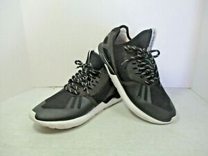 Men's ADIDAS Tubular M19648  Black / White Soles and Striped Laces Size 11