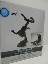 """ONN Tablet Stand With Suction Cup Mount For Most 7 - 10"""" Tablets 360 ROTATION"""