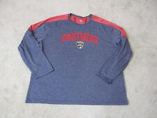 NHL Florida Panthers Long Sleeve Shirt Adult 2XL XXL Blue Red Hockey Dri Fit Men