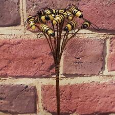 12  Bee Picks Stems Primitive Crafts Folk art  Making Wreaths Swags Fairy Garden
