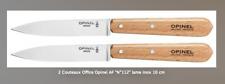 couteau office en hêtre et lame inox Opinel ,2 couteaux d'office Opinel, N°112