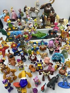 Huge Mixed Lot Disney and Other PVC Cake Toppers Plastic Characters Figures LOOK