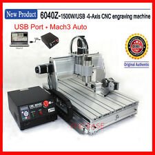 USA !USB four 4 axis 6040 cnc router 1500W engraver engraving milling machine