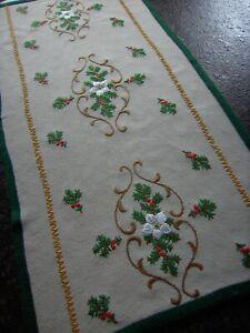 Antike Weihnachtsdecke HANDARBEIT Tischdecke Weihnachten Advent Tischläufer