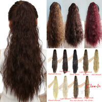 Curly Jaw Ponytail Curly Thick Long Pony Tail Clip in Hair Extension For Women