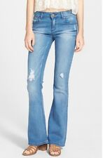 New Love Fire Women's Medium Washed/ 3/ Destroyed Flared Jeans