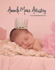 Mini Tiara Crown for Newborn - Baby Photo Prop Crystal and Rhinestone Tall #4004
