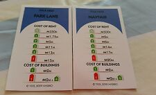 Monopoly Revolution Board Game Spare  Replacement Dark Blue property cards (3)