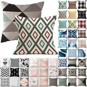 Geometric Throw Cushion Covers Waist Pillow Case Mat Home Sofa Modern Art Decor