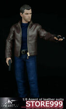 """1/6 Toy Center CEN-M02 The Agent Of Leather Suit For 12"""" Male Cloth Set Gifts"""