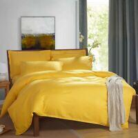 Cotton Yellow Quilt Doona Duvet Cover Set Single/Double/Queen/King Pillowcase