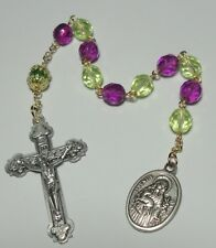Handmade in USA St Cecilia & St Agnes One Decade Rosary - Gardeners & Musicians
