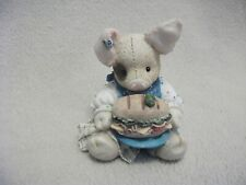 """1994 Enesco Figurine """"This Little Piggy Ate Roast Beef"""" By Mary Rhyner"""