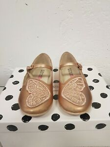 Sophia Webster Bibi Butterfly Mini Rose gold, gold glitter Infant 9.5 leather