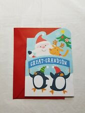 Christmas Greeting Card For Great Grandson 8 x 5 1/2 inch Hallmark Expressions