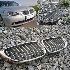 BMW  E60 LIMOUSINE E61 TOURING  5er 2003 -2010  NIEREN GRILL CHROM / SILBER  NEU