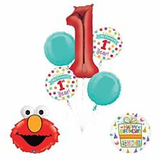 """Sesame Street Elmo """"I Survived My Parents First Year"""" 1st Birthday Party"""