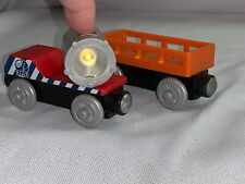 Thomas Wooden Railway Train BMQ Searchlight Car-Mining Supply Car Lot Lights Up