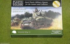 Plastic Soldier Company WW2 ALLIED M4A1 SHERMAN TANK 15mm