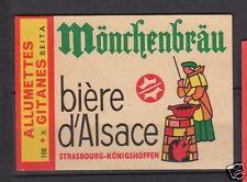 Etiquette Allumette France Bière Mönrhenbräu