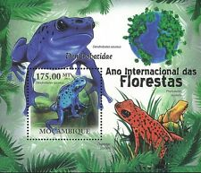 Mozambique 2011 Stamp, MOZ11115B Pioson-Dart Frogs , S/S