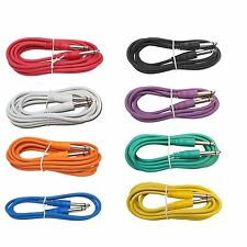 8 PACK mixed color 3 ft foot 1/4 guitar to effect pedal studio rack patch cables