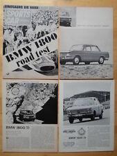 BMW 1800 & TI lotto di 4 contemporaneo Prova su strada di opuscoli 1964 1965