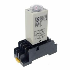 110V H3Y-4 Power On Time Delay Relay Solid-State Timer 2~60M,4PDT 14Pins&Socket