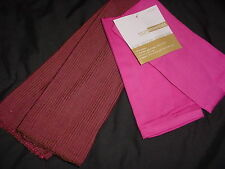 Room Essentials 100% Cotton  2 Ribbed reversible place mats & Pink napkins New