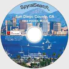 CA - San Diego County 1964 Phone Book CD - Searchable