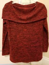 SOMA Loungewear XSmall Sweater Off Shoulder Red/Black Live Lounge Wear