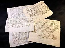 Lote de cuatro documentos española 1600 - 1700s
